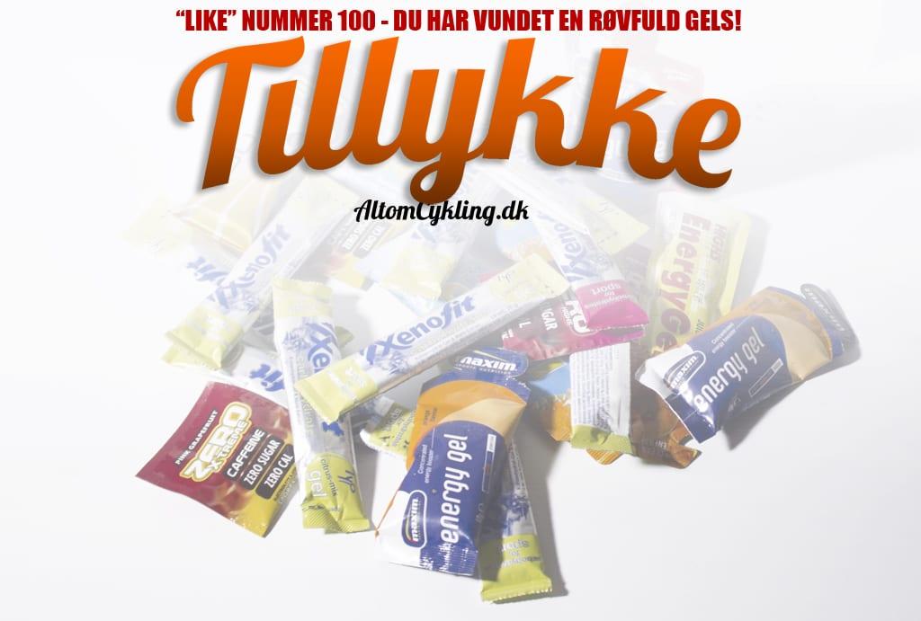 Tillykke du har vundet en røvfuld Gels - AltomCykling.dk