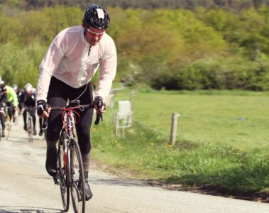 Redaktøren på Yding Skovhøj, til Cykling Parts Race, danmarks højeste © Photo: Ole Thisted // AltomCykling.dk