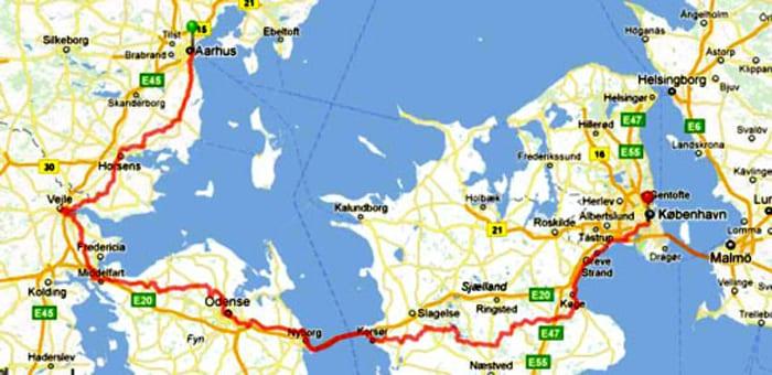 Aarhus København Rute