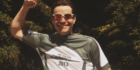 Redaktøren fra AltomCykling.dk med trøjen på © Photo: Munkebjerg Classic