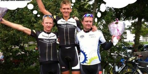 Team Boardman Briancon på sejrsskamlen i Randers 2013