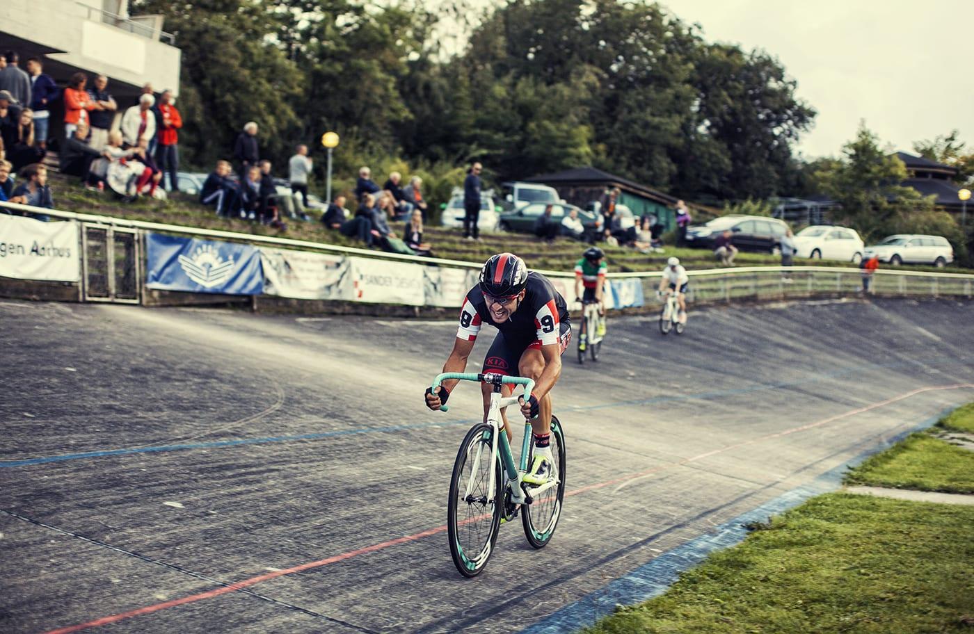 Martin Mortensen på vej mod samlet sejr til Kay Werners Æresløb i Aarhus 2014 © Photo: Uggi Kaldan // AltomCykling.dk
