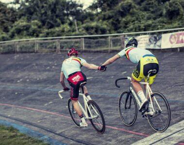 Mathias Kriegbaum og Christian Moberg i parløb på Aarhus Cyklebane 2014 © Photo: Uggi Kaldan // AltomCykling.dk