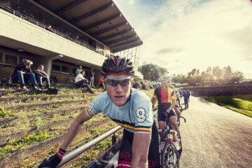 Christian Moberg fra Team Cult Energy Vital Water klar til start ved Kay Werners mindesløb på Aarhus Cyklebane 2014 © Photo: Uggi Kaldan // AltomCykling.dk