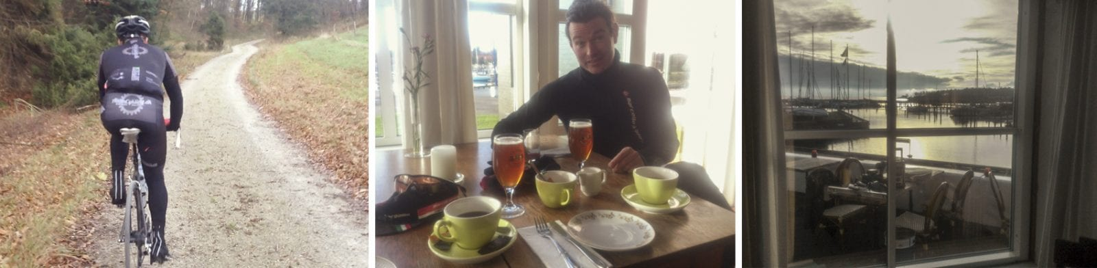 Først Agri,så kaffe og øl © AltomCykling.dk 2014