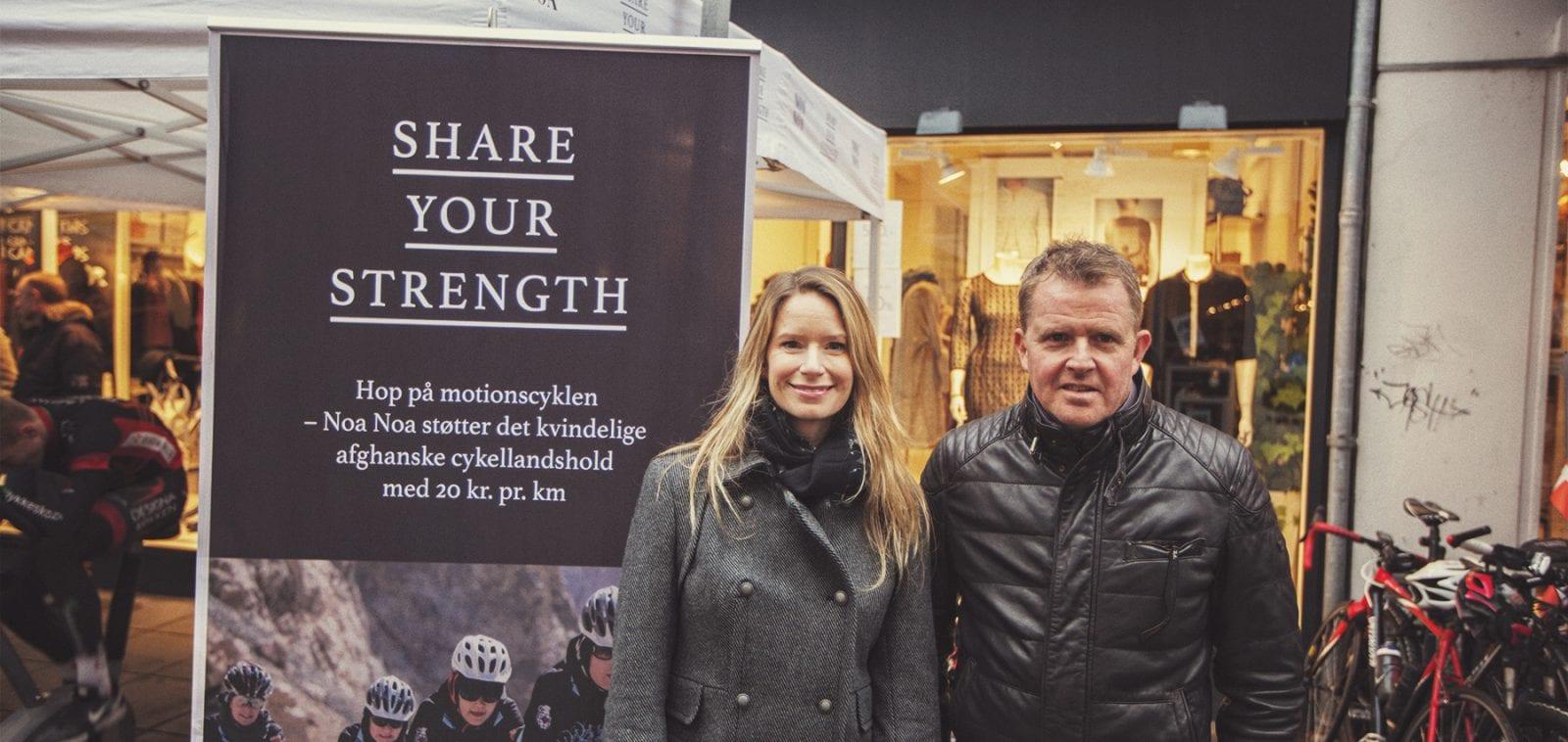 Shannon Galpin og Rolf Sørensen Silkeborg Noa Noa 2014 Share your Strenght © Photo: Uggi Kaldan // AltomCykling.dk