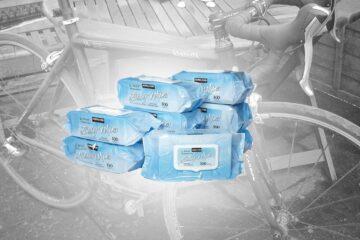 Magi til din cykel - vådservietter... © Photo: AltomCykling.dk 2014