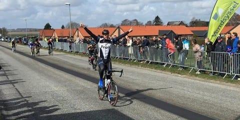 Jeppe Tolbøll vinder C licens i Aalborg 2015 © Foto: AltomCykling.dk
