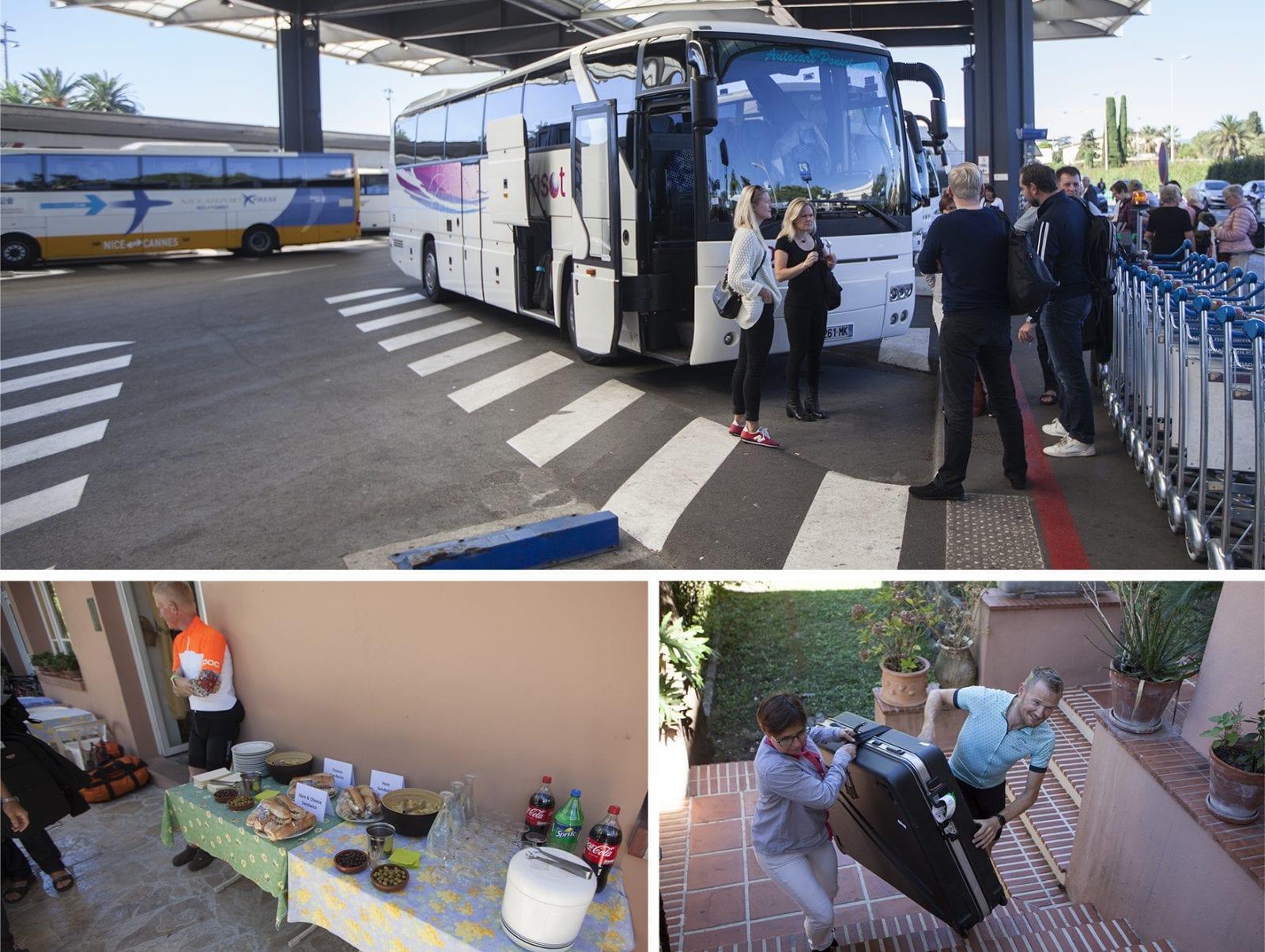 Der var 100% styr på ankomsten, bussen ventede og der var en lækker frokost klar - Photo © Uggi Kaldan // AltomCykling.dk