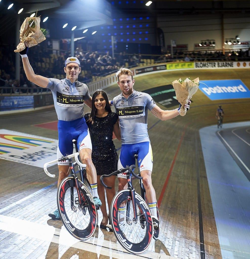 Par nummer 2: Kenny De Ketele/Moreno De Pauw i front på dag af 6 dagesløbet i Ballerup Super Arena © Photo: Lars Ronbog / FrontZoneSport