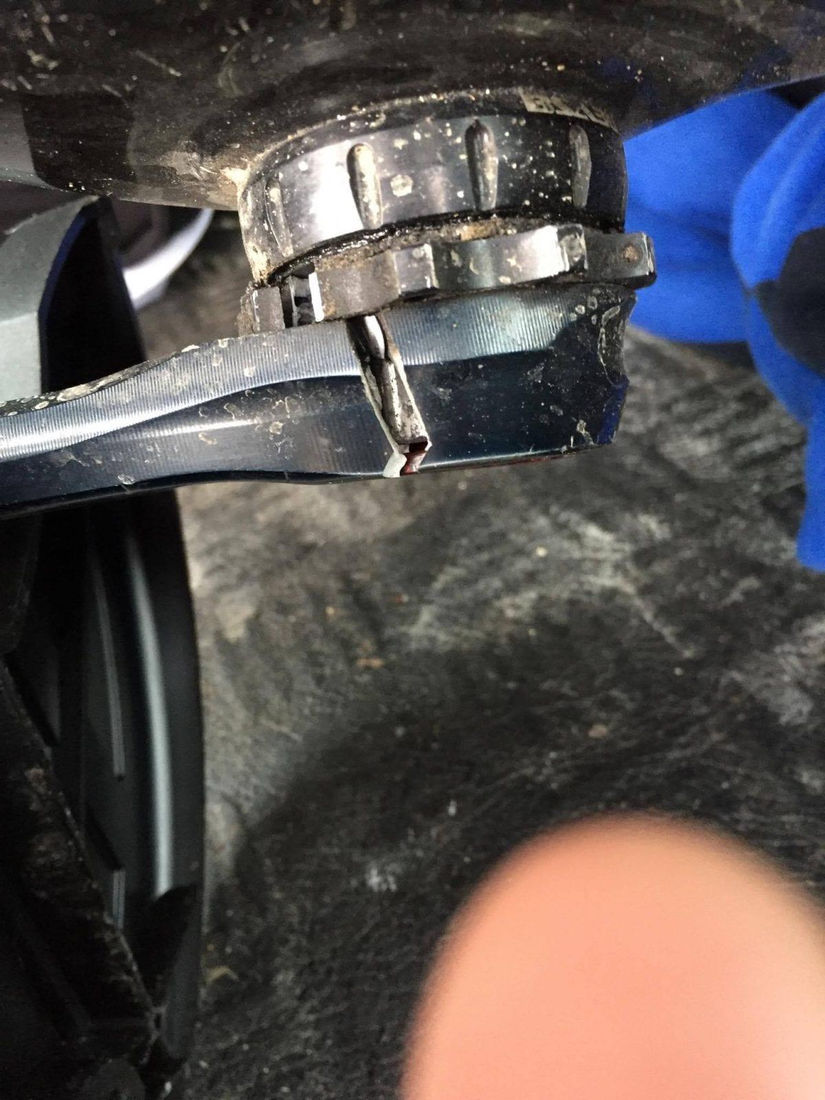 En flækket Rotor-pedalarm blev mit endeligt i Nyborg