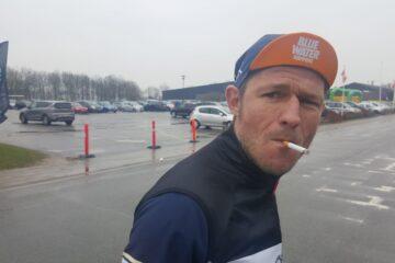 Henrik Valle Nielsen efter et hårdt løb // AltomCykling.dk