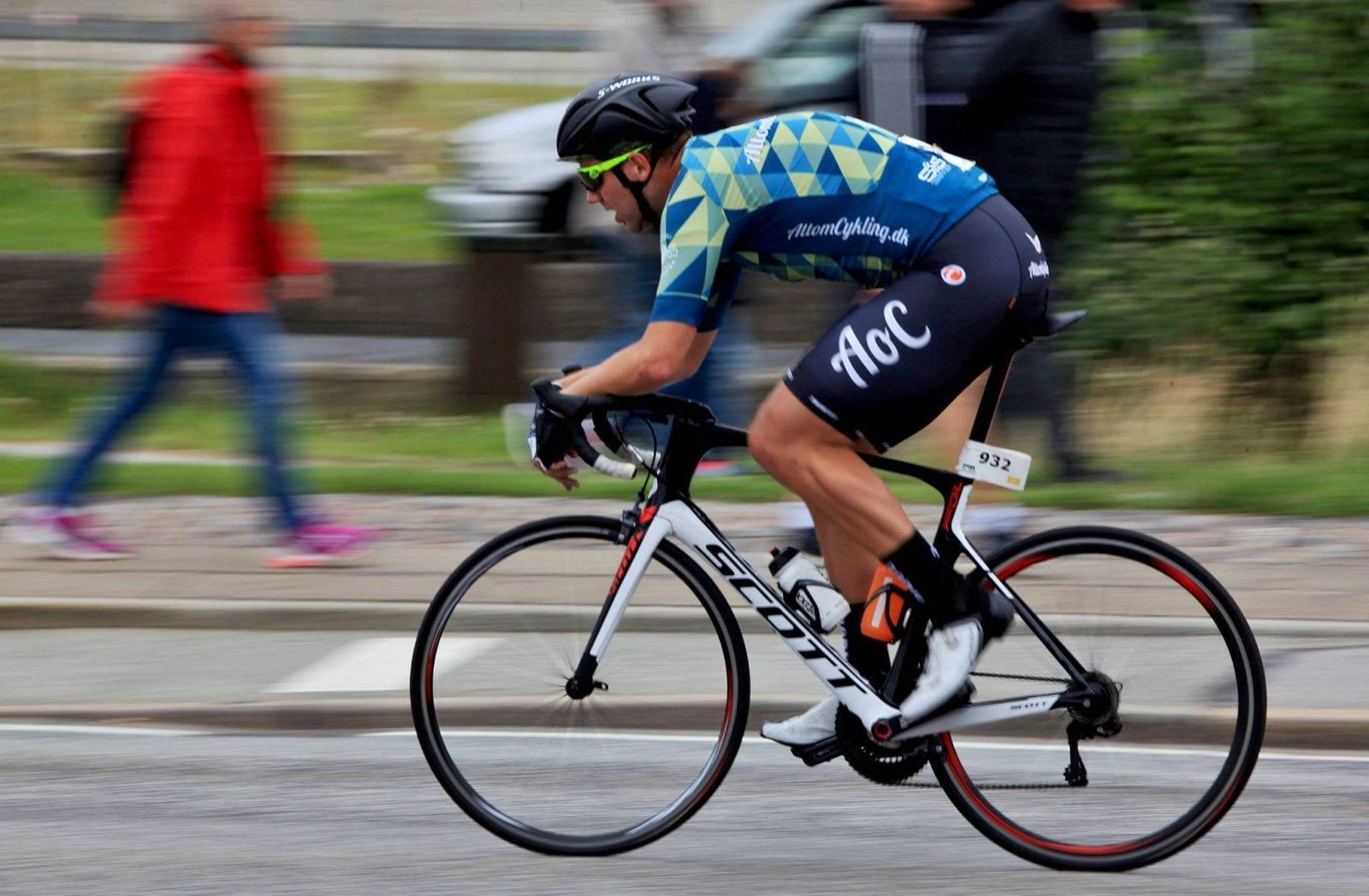 På jagt efter sejr under TV2 på Tour i Aabenraa. Foto: Viggo Kohberg