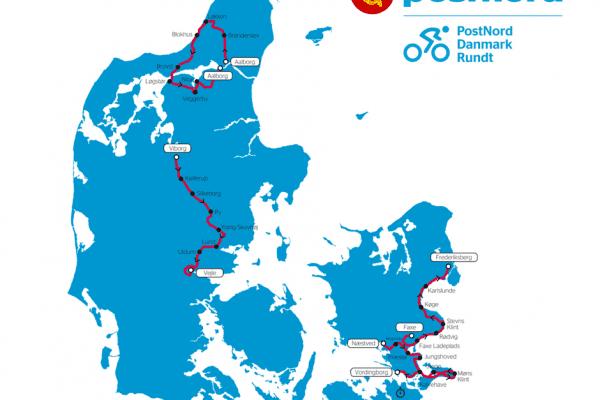 Post Nord Danmark Rundt Rutekort 2018
