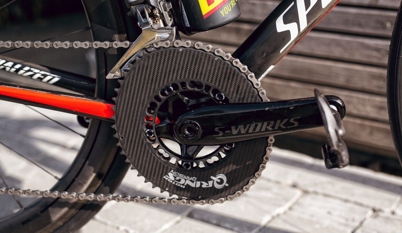 Rotor Qarbon 52 36 Qrings Carbon Oval Chainrings