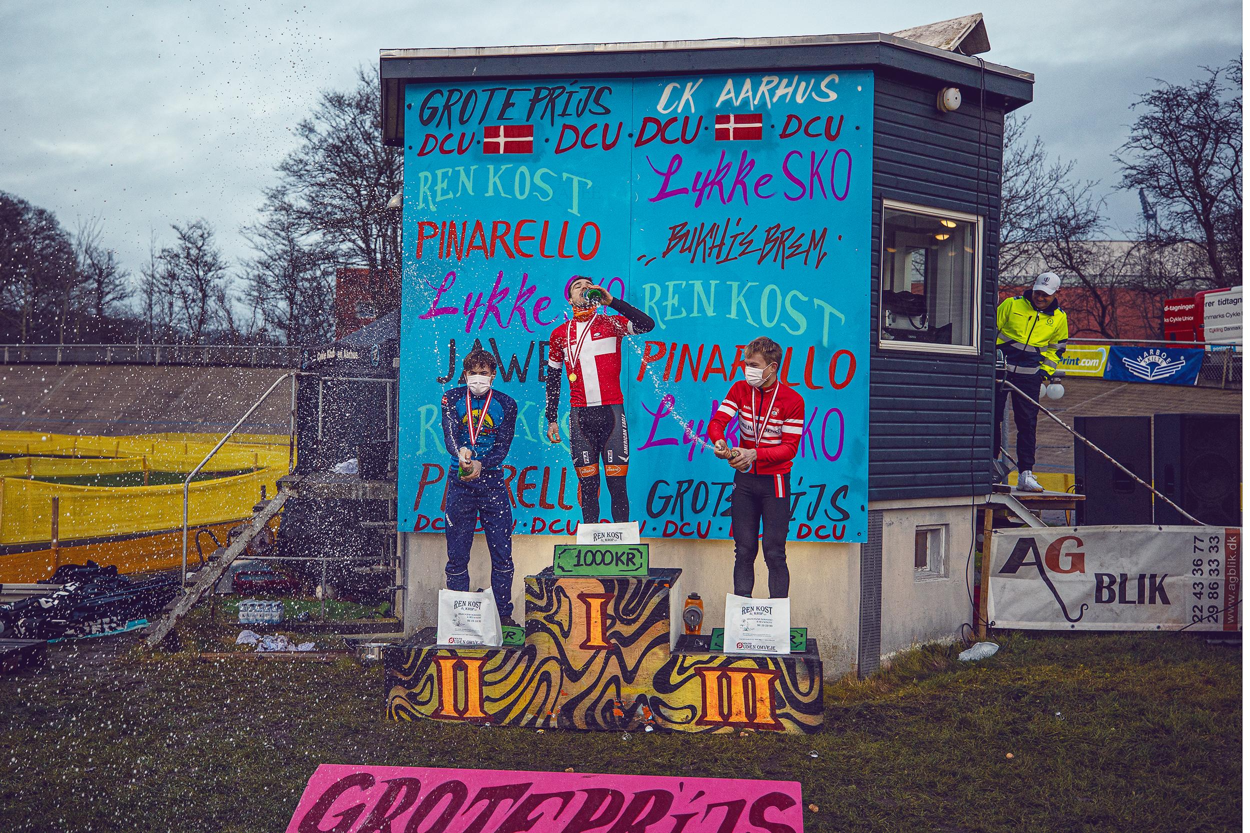 podiet Herre Elite DM Cykelcross 2021